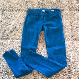 Royal blue skinny jeans